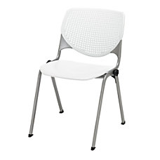 KFI Studios KOOL Stacking Chair WhiteSilver