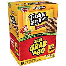Keebler Fudge Stripe Cookies Grab N