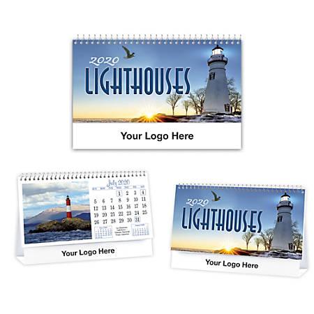 Lighthouses Desk Calendar
