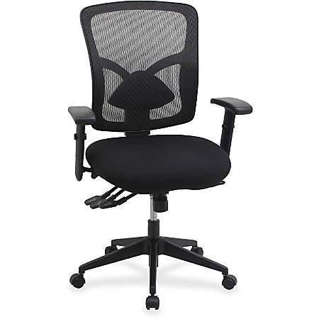 Lorell® Management Mesh/Fabric Chair, Black