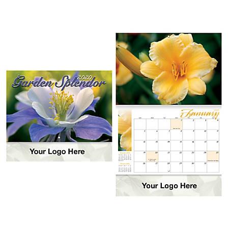 Garden Splendor Stitched Wall Calendar