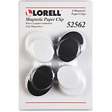 Lorell Plastic Cap Magnetic Paper Clips
