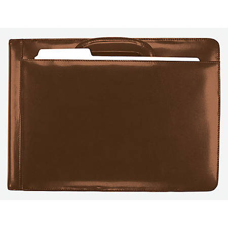 Custom Bonded Leather 7-Ring Check Case, Burgundy