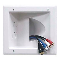 Datacomm Recessed Low Voltage Media Plate