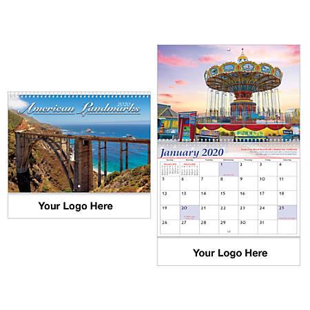 Historic Landmarks Spiral Wall Calendar