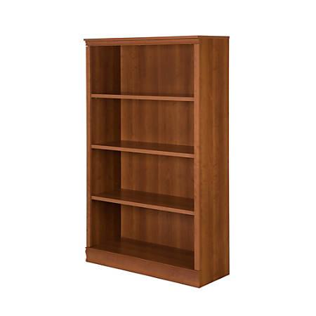 South Shore Morgan 4-Shelf Bookcase, Morgan Cherry