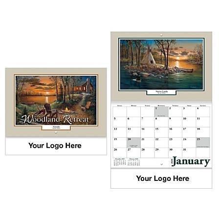 Woodland Retreat Stitched Wall Calendar