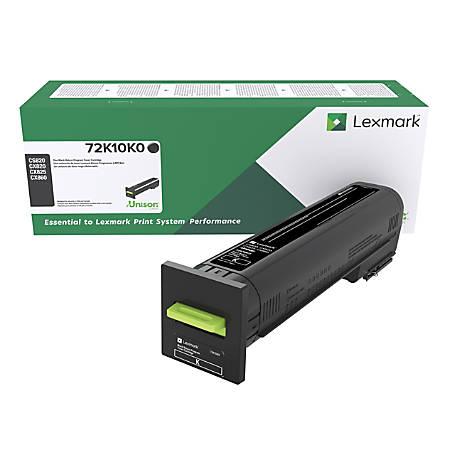 Lexmark™ Unison™ Return Program Toner Cartridge, 72K10K0, Black