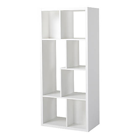 Homestar North America 7-Compartment Bookcase, White