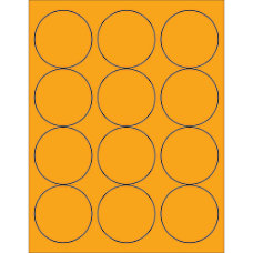 Office Depot Brand Labels LL194OR Circle