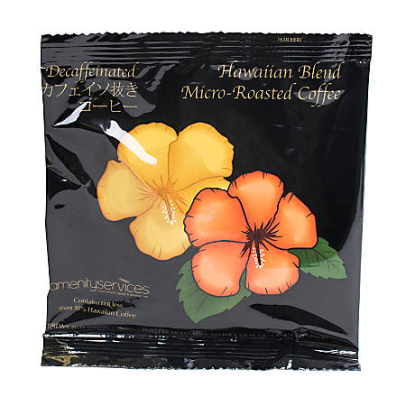 Hawaiian Blend Ground Decaf Coffee Filter Single-Serve Packets, 1.5 Oz, Carton Of 42