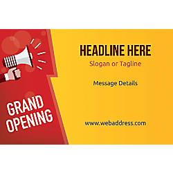 Custom Poster Grand Opening Announcement Horizontal