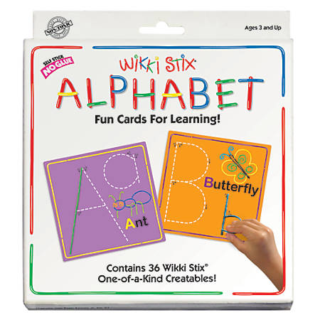 Wikki Stix® Alphabet Card Set