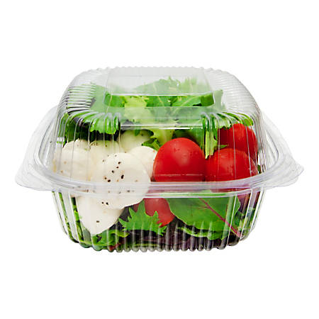 "StalkMarket Compostable PLA Cold Food Containers, 14"" x 18"", Clear, Pack Of 240"