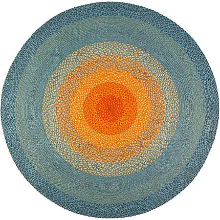 Anji Mountain Olwyn Braided Rug, 8', Multicolor
