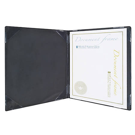 "Realspace™ Document And Certificate Holder, 8-1/2"" x 11"", Black/Gold"
