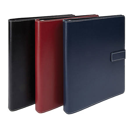 """Office Depot® Brand Classic-Style Magnetic-Strap Binder, 1 1/2"""" Rings, Assorted Colors"""