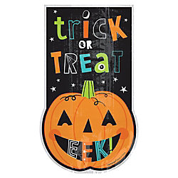 "Amscan Cellophane Halloween Friends Large Bags, 9"" x 5-1/2"", 7 Per Pack, Case Of 20 Packs"