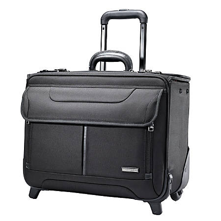 "Samsonite® Beacon Hill Catalog 17"" Rolling Laptop Case, Black"