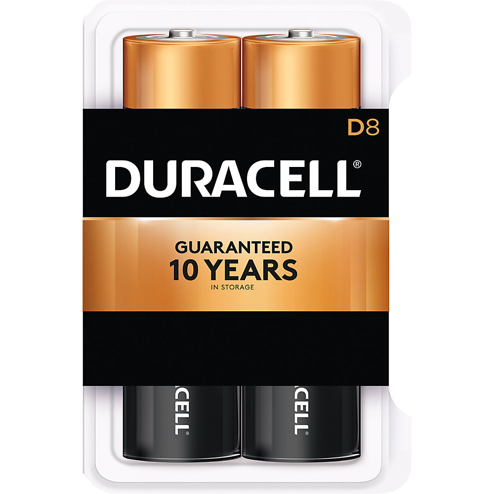 Duracell Coppertop Alkaline D Batteries, Pack Of 8