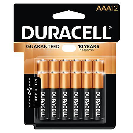 Duracell Coppertop Alkaline AAA Batteries, Pack Of 12
