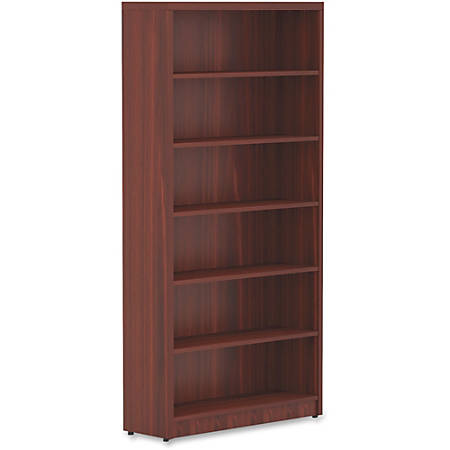 Lorell® Chateau Series Bookcase, 6-Shelf, Mahogany