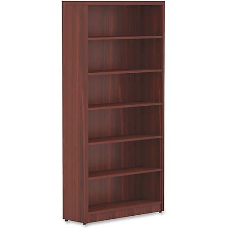 Lorell® Chateau Series Bookcase, 6-Shelf, Mahogany