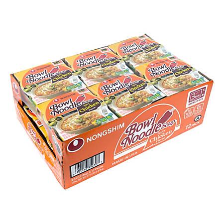 Nongshim Bowl Noodle Soup, 3 Oz, Box Of 12