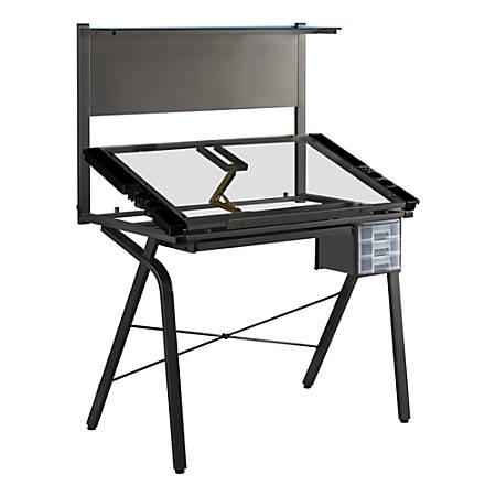 Monarch Specialties Adjustable Drafting Table, Rectangular, Black