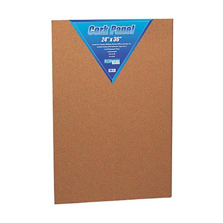 "Flipside Cork Bulletin Board, 24"" x 36"", Brown"