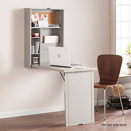 southern enterprises fold out convertible wall mount desk. Black Bedroom Furniture Sets. Home Design Ideas