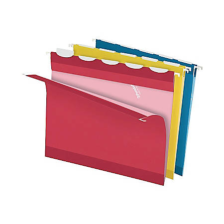 Pendaflex® Premium Ready-Tab Reinforced Hanging Folders, Letter Size, 1/5-Cut Tab, Assorted, Box Of 20
