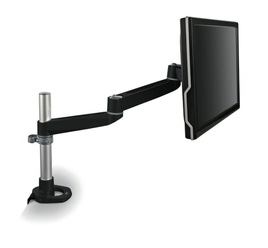 3M MA140MB Dual Swivel Monitor Arm Desk Mount Black by Office Depot