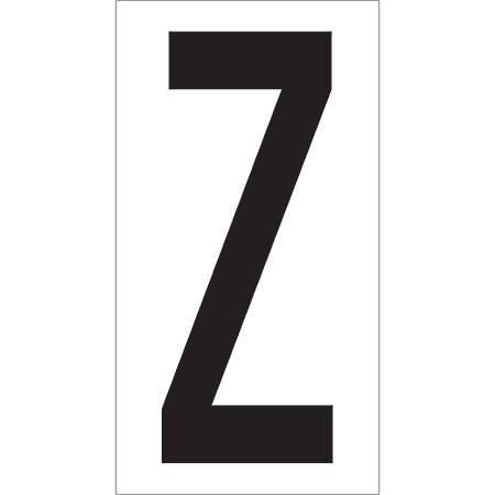 """Office Depot® Brand Vinyl Warehouse Labels, DL9310Z, Letter Z, 3 1/2"""", Black/White, Case Of 50"""