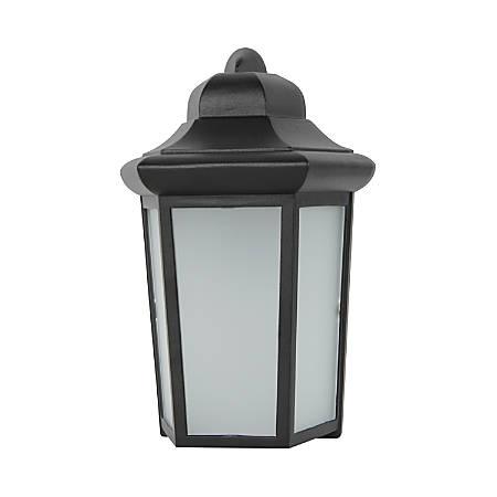 Luminance LED Wall Lantern, 9 Watts, 4000K/Cool White, 850 Lumens, Black/Frosted Glass