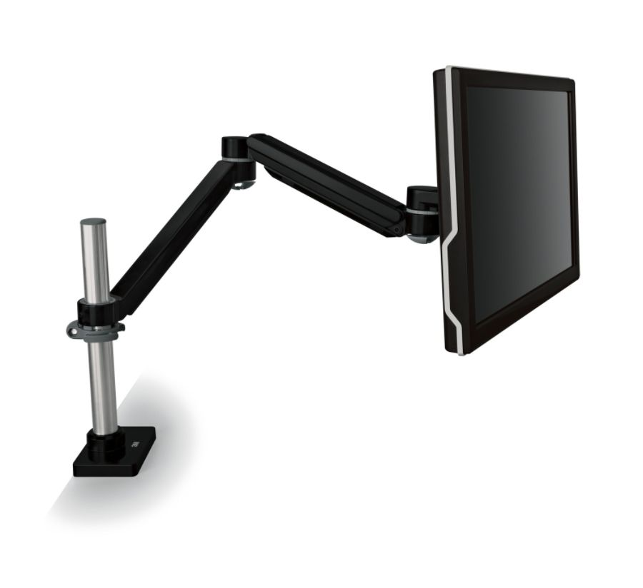 3M MA240MB Adjustable Monitor Arm Desk Mount 20 Lb Capacity Black by