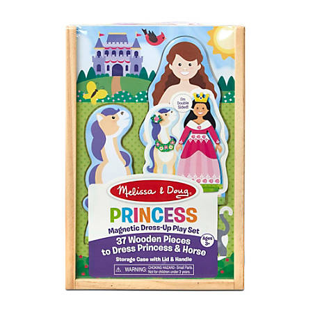 Melissa & Doug Pretend Play Educational Toys, Princess Magnetic Dress-Up Play Set