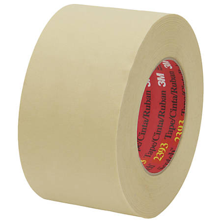 "3M™ 2393 Masking Tape, 3"" Core, 3"" x 180', Tan, Pack Of 12"