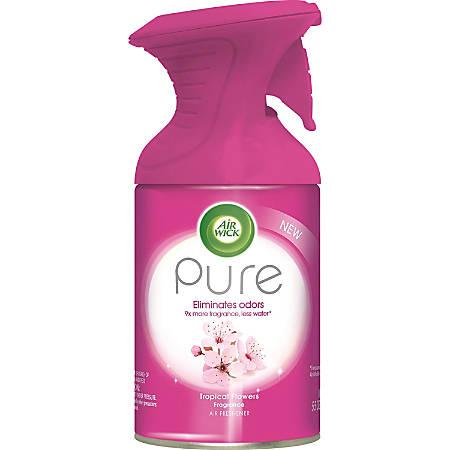 Air Wick Pure Aerosol Spray - Aerosol - 5.5 fl oz (0.2 quart) - Tropical Flowers - 1 / Each - Odor Neutralizer, Residue-free