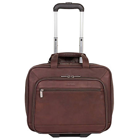 """Kenneth Cole Reaction Rolling Leather Portfolio, 13 1/2"""" x 16 1/2"""" x 8 1/2"""", Brown"""