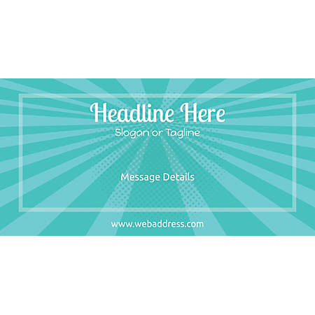 Custom Horizontal Banner, Abstract Rays