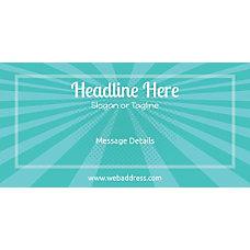Custom Horizontal Banner Abstract Rays