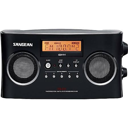 Sangean Radio Tuner - 5 x AM, 5 x FM PresetsLCD Display - Headphone - 6 x C