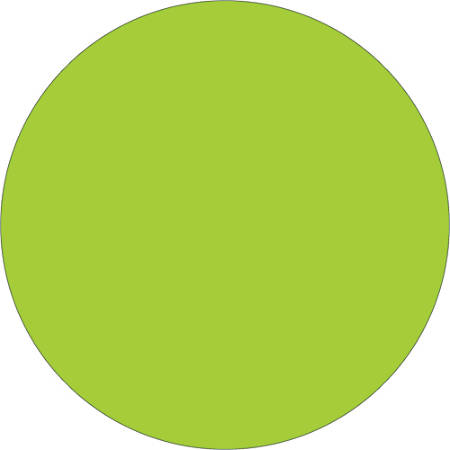 """Tape Logic® Removable Inventory Labels, DL1389FG, Round, 1"""", Fluorescent Green, Roll Of 500"""