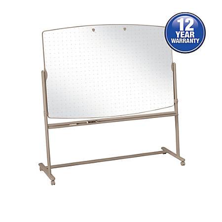 """Quartet® Large Reversible Total Erase™ Mobile Easel, Neutral Frame, 72"""" x 48"""""""