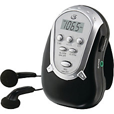 GPX Portable Clock Radio Stereo