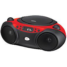 GPX BC232R RadioCD Player Boombox 1