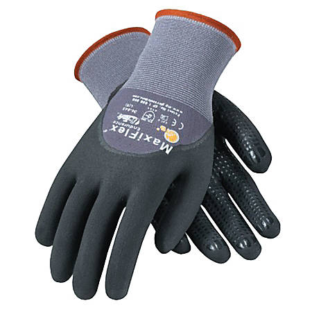 Bouton® MaxiFlex® Endurance™ Nitrile Gloves, Coated Palm, Finger, Knuckle, Medium, Black/Gray, Pack Of 12 Pairs
