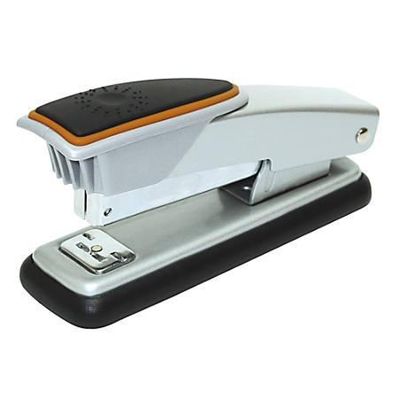 Office Depot® Brand Compact Metal Desktop Stapler, Silver/Orange