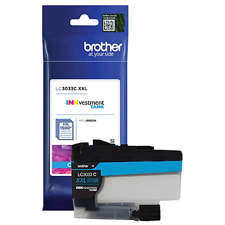 Brother INKvestment Tank Ink Cartridge, High Yield, Cyan, LC3033C